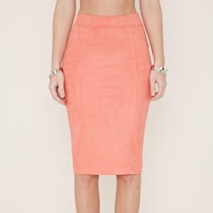 Lemonade Pink Pencil Skirt